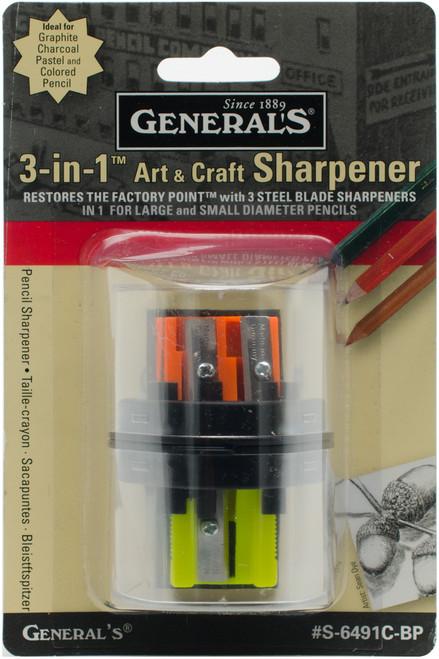 General Pencil 3-in-1 Art & Craft Sharpener-S6491CBP - 044974649117