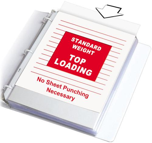 "Top Loading Sheet Protectors 8.5""X11"" 100/Pkg-Clear -62027"