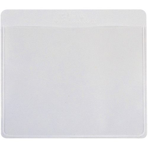 """Self-Adhesive Labeling Pockets 3.75""""X3"""" 25/Pkg-Clear/White -70443"""