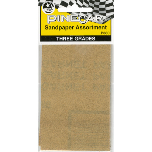 Pine Car Derby Sandpaper Assortment-P380 - 724771003809