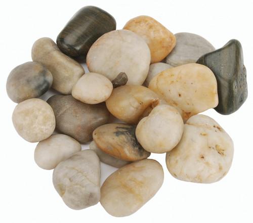 Polished River Rocks 32oz-Assorted Colors -70005