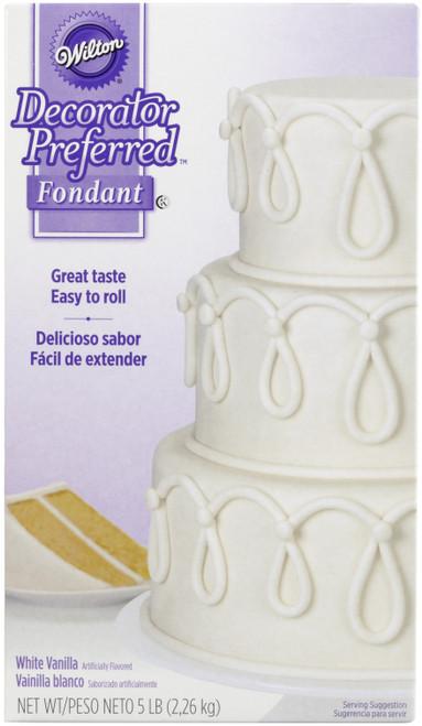 Decorator Preferred Fondant 5lb-White -W2300 - 070896323002