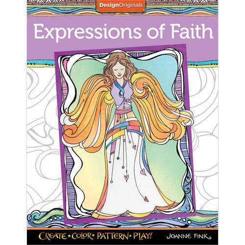 Design Originals-Expressions Of Faith Coloring Book -DO-5618 - 9781497200838