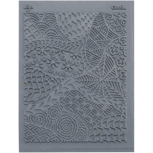 "Lisa Pavelka Individual Texture Stamp 4.25""X5.5""-Cloodle -LP527-527"