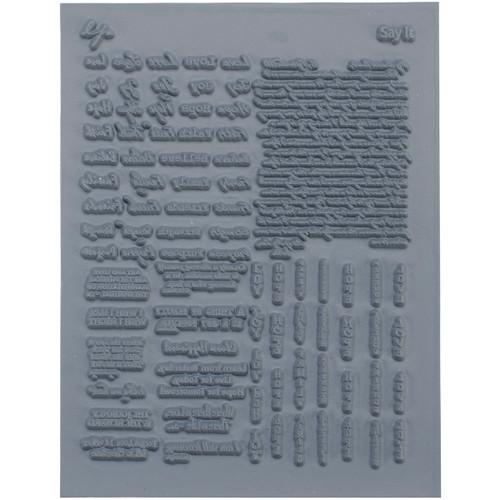 "Lisa Pavelka Individual Texture Stamp 4.25""X5.5""-Say It -LP527-526"