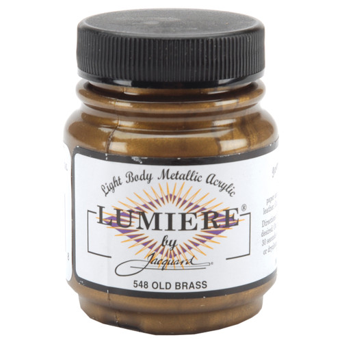 Jacquard Lumiere Metallic Acrylic Paint 2.25oz-Old Brass -LUMIERE-548 - 743772154808