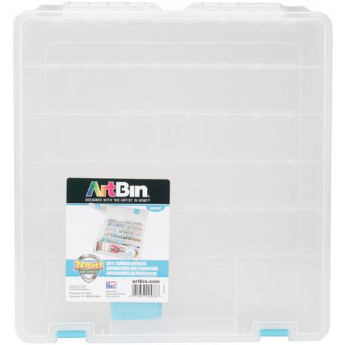 "ArtBin Tarnish Inhibitor Super Satchel 8-20 Compartment -15""X14""X2"" Translucent -6865AG - 071617004767"