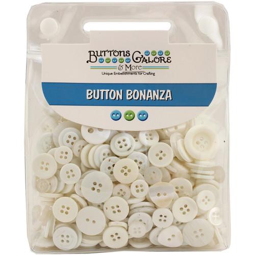 Buttons Galore Button Bonanza-White -BB-20 - 840934029209