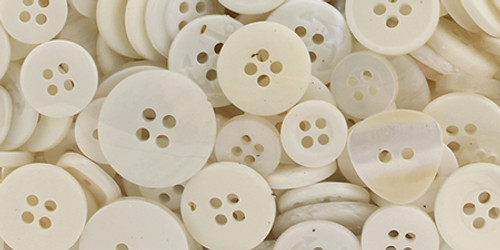 Buttons Galore Button Bonanza-White -BB-20