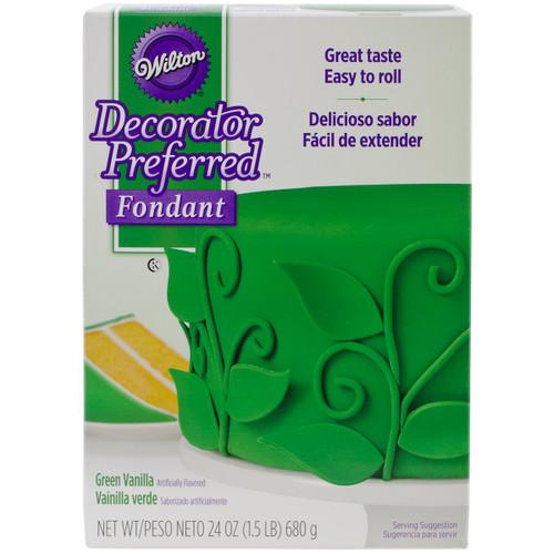 Decorator Preferred Fondant 24oz-Green -W7102-2307 - 070896523075