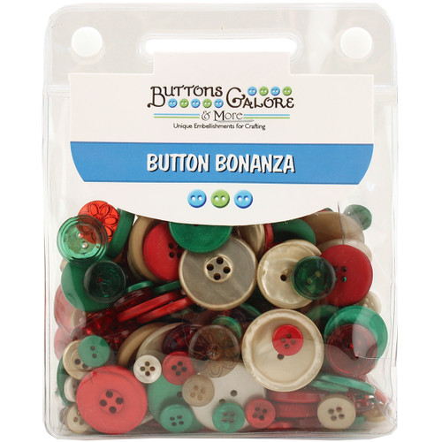 Buttons Galore Button Bonanza-Vintage Christmas -BB-45 - 840934075299