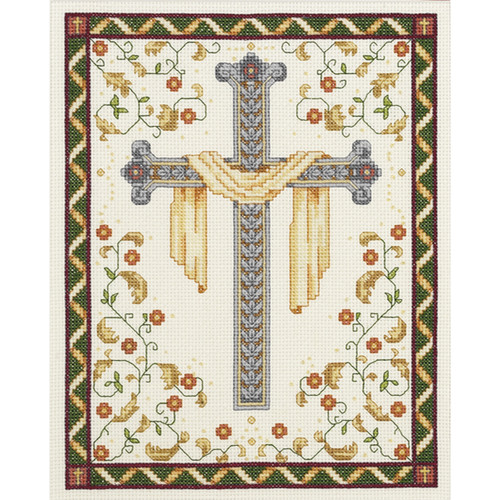 """Janlynn Counted Cross Stitch Kit 8""""X10""""-His Cross (14 Count) -21-1018 - 029064210187"""