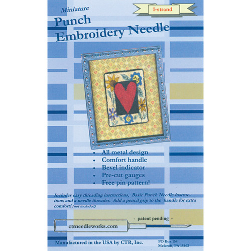 CTR Needleworks Miniature Punch Embroidery Needle-Blue 1-Strand -CTR-NDL-1 - 851509007003