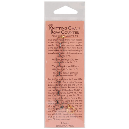 Lacis No Hands Knitting Chain Row Counter-CB38 - 824649005635