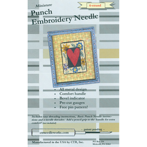 CTR Needleworks Miniature Punch Embroidery Needle-Black 6-Strand -CTR-NDL-6 - 851509007034