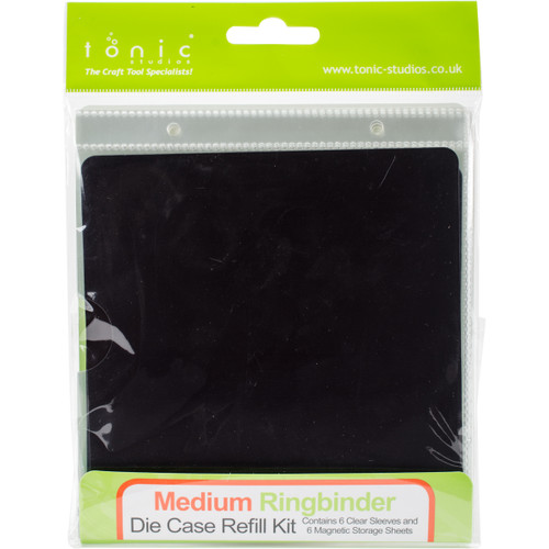 "Tonic Studios Medium Binder Refills 6""X6"" 6/Pkg-Magnetic Sheets W/Plastic Sleeves -345E - 8410791034585060193543451"
