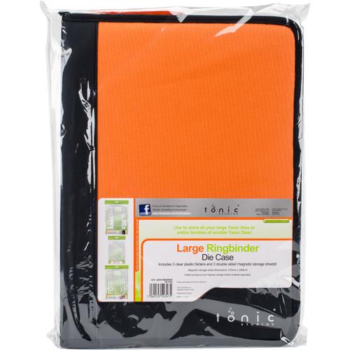 Tonic Studios Large Ring Binder Die Case-Black & Orange -347E - 8410791034725060193543475
