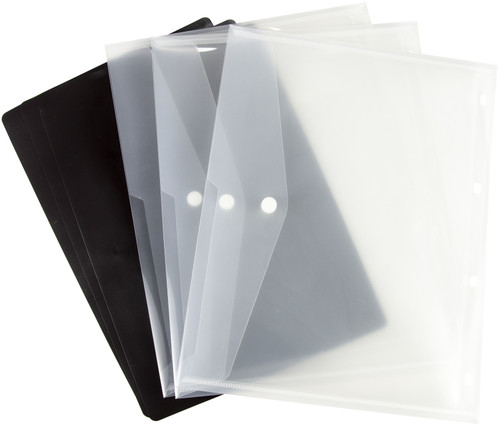 Tonic Studios Large Ring Binder Die Case Refills 3/Pkg-A4 Magnetic Sheets W/Plastic Sleeves -348E