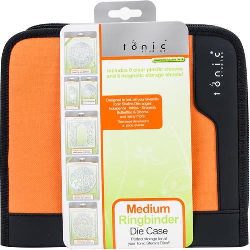 Tonic Studios Medium Ring Binder Die Case-Black & Orange -344E - 8410791034415060193543444