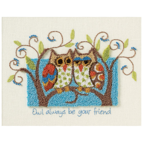 """Dimensions Punch Needle Kit 10""""X8""""-Owl Always Be Your Friend -73399"""