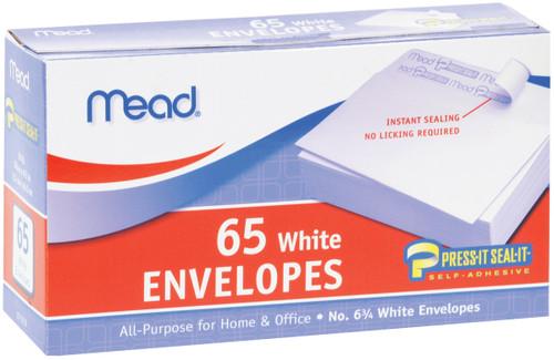 "Mead Boxed Peel & Stick Envelopes 3.625""X6.5"" 65/Pkg-Regular #6 -75028 - 043100750284"