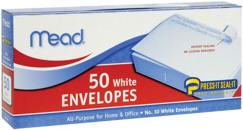 "Mead Boxed Peel & Stick Envelopes 4.125""X8.5"" 50/Pkg-Regular #10 -75024 - 043100750246"