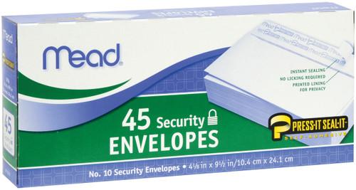 """Mead Boxed Peel & Stick Envelopes 4.125""""X9.5"""" 45/Pkg-Security #10 -75026 - 043100750260"""