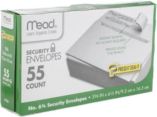 """Mead Boxed Peel & Stick Envelopes 3.625""""X6.5"""" 55/Pkg-Security #6 -75030"""