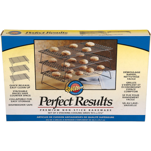 """Perfect Results Non-Stick 3-Tier Cooling Rack-15.875""""X9.875"""" -W56815 - 070896258151"""