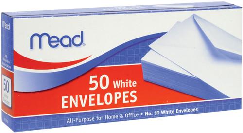 "Mead Boxed Envelopes 4.125""X9.5"" 50/Pkg-Regular #10 -75050 - 043100750505"