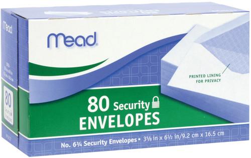 """Mead Boxed Envelopes 3.625""""X6.5"""" 80/Pkg-Security #6 -75212 - 043100752127"""
