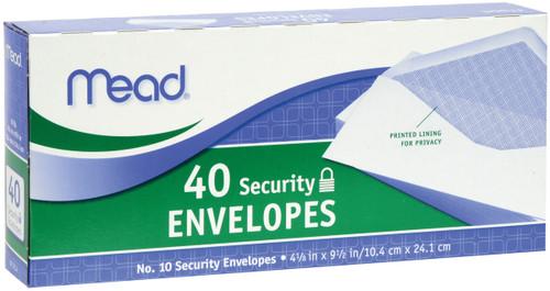 """Mead Boxed Envelopes 4.125""""X9.5"""" 40/Pkg-Security #10 -75214 - 043100752141"""