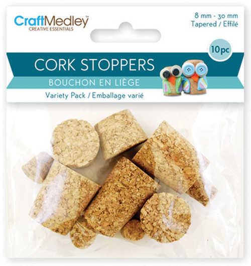 Cork Stoppers Value Pack-Assorted 10/Pkg -GC035 - 775749198935