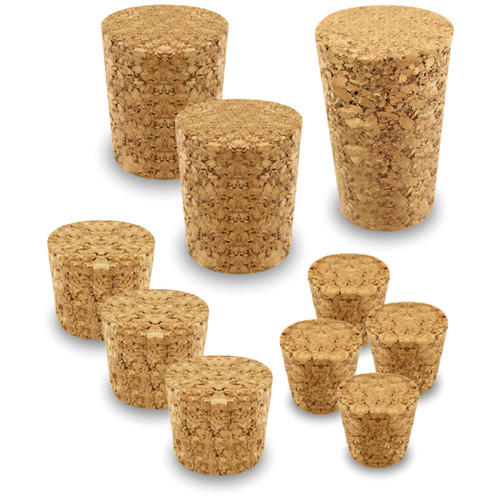 Cork Stoppers Value Pack-Assorted 10/Pkg -GC035
