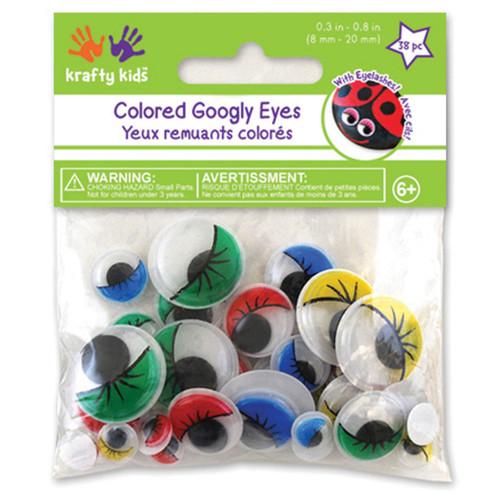 Paste-On Googly Eyes 72/Pkg-Assorted -EM304 - 775749198942