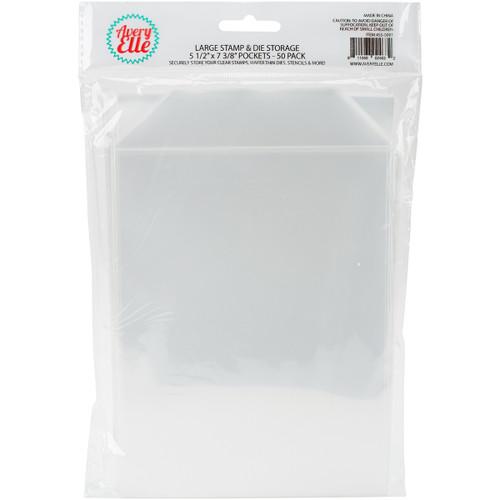 "Avery Elle Stamp & Die Storage Pockets 50/Pkg-Large 5.5""X7.375"" -SS-5001 - 811568024632"