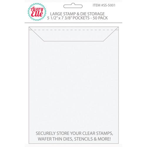 "Avery Elle Stamp & Die Storage Pockets 50/Pkg-Large 5.5""X7.375"" -SS-5001"