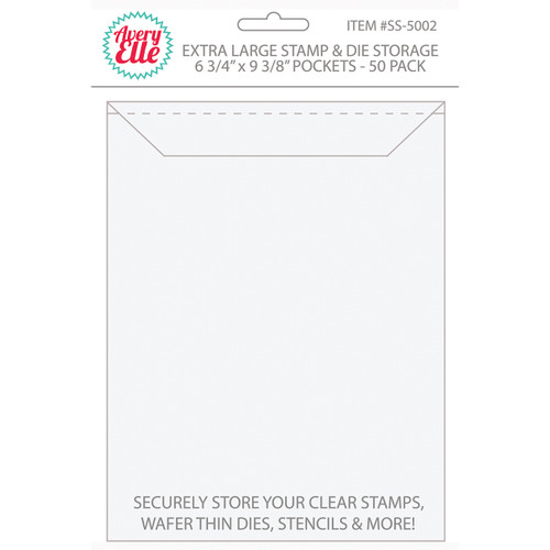 "Avery Elle Stamp & Die Storage Pockets 50/Pkg-Extra Large 6.75""X9.25"" -SS-5002"
