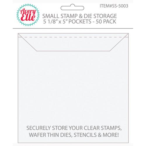 "Avery Elle Stamp & Die Storage Pockets 50/Pkg-Small 5""X5"" -SS-5003"