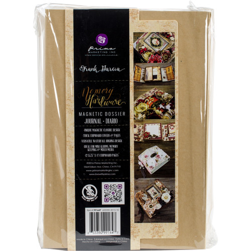 """Prima Memory Hardware Chipboard Album 6""""X9""""-Kraft Magnetic Dossier W/12 Pages -991647 - 655350991647"""