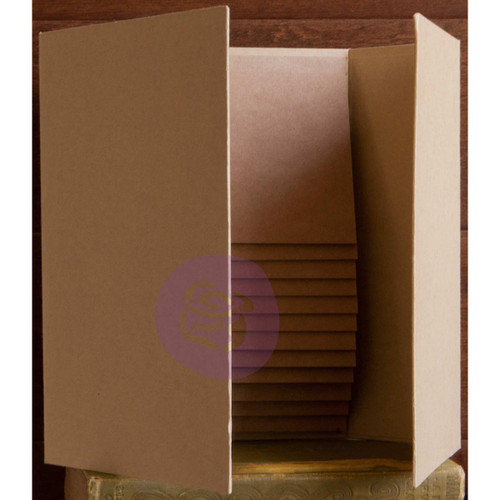 """Prima Memory Hardware Chipboard Album 6""""X9""""-Kraft Magnetic Dossier W/12 Pages -991647"""