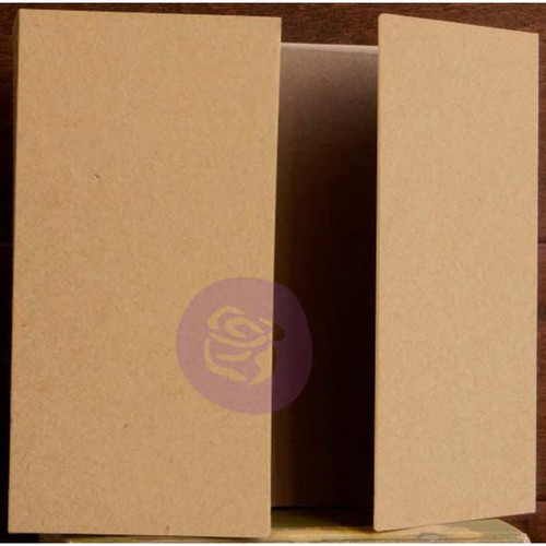 "Prima Memory Hardware Chipboard Album 8.5""X8""-Kraft Gatefold W/8 Pages -991654"