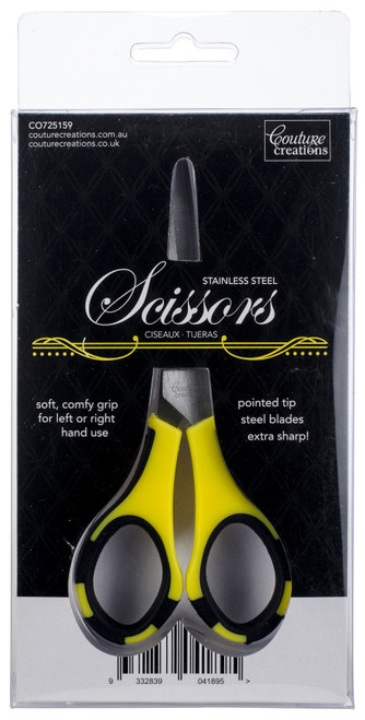 """Couture Creations Teflon Scissors 5.5""""-W/Stainless Steel Blades -CO725159 - 9332839041895"""
