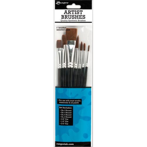Ranger Artist Brushes 7/Pkg-BRU40842 - 789541040842