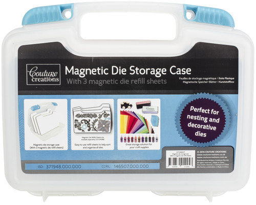 """Couture Creations Magnetic Die Storage Case 9.6""""X9.8""""X2.9""""-W/3 Magnet Sheets -CO723862 - 9332839012253"""