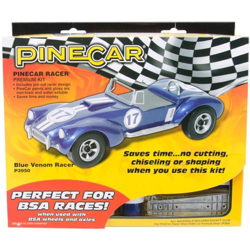 Pine Car Derby Racer Premium Kit-Blue Venom -P3950 - 724771039501