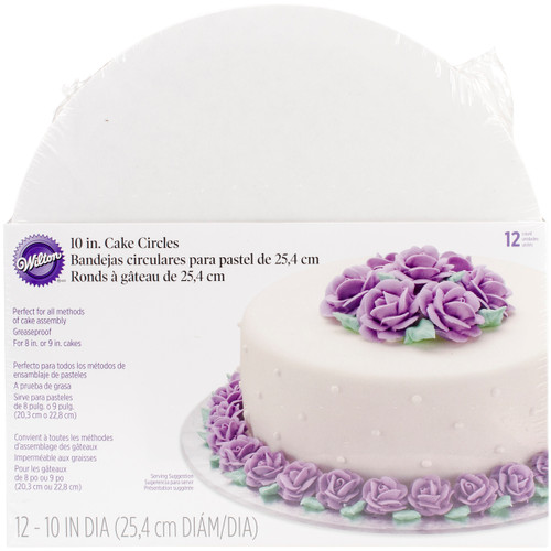 "Cake Boards-10"" Round White 12/Pkg -W2104102 - 070896211026"