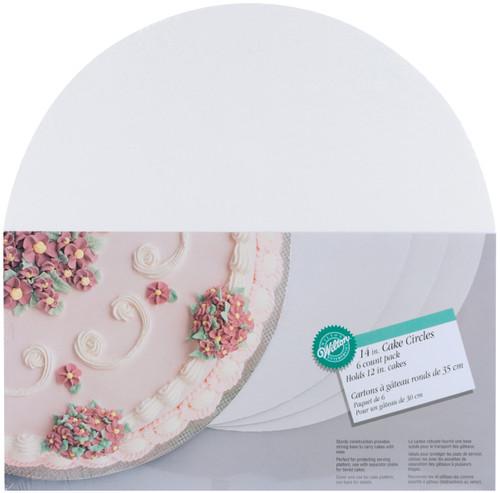 "Cake Boards-14"" Round White 6/Pkg -W2104145 - 070896211453"