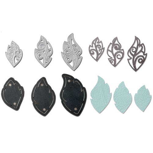 Movers & Shapers Magnetic Dies W/Thinlits By Lindsey Serata-Leaf Charms -661330