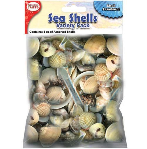 Mixed Sea Shells 8oz-Small -DECS8S